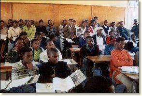 Learners at Saturday School, Langa Township